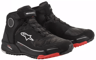 ALPINESTARS CR-X DRYSTAR SHOES: Black / Camo Red