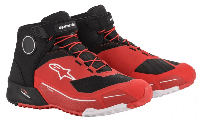 ALPINESTARS CR-X DRYSTAR SHOES: Black / Red