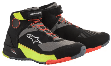 ALPINESTARS CR-X DRYSTAR SHOES: Black / Flur Yellow / Flur Red
