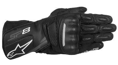 ALPINESTARS SP-8 V2 LEATHER GLOVES: Black / Dark Grey