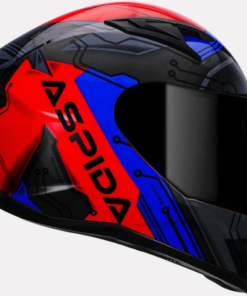 ASPIDA TOURANCE MACHINE HELMET: Blue Red