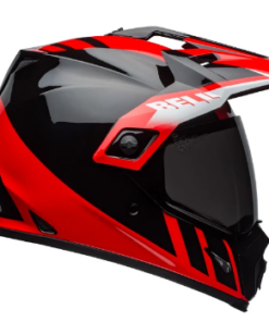 BELL MX-9 ADVENTURE MIPS DASH GLOSS HELMET: Black / Red / White