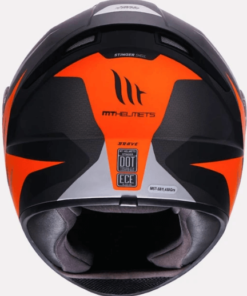 MT STINGER BRAVE A2 MATT HELMETS: Orange
