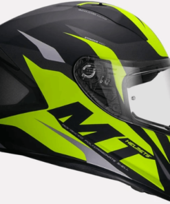MT STINGER BRAVE A3 MATT HELMETS: Fluorescent Yellow