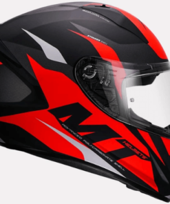 MT STINGER BRAVE A1 MATT HELMETS: Red