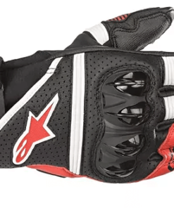 ALPINESTARS GPX V2 GLOVES: Black / White / Bright Red