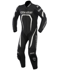 Alpinestars Moto G Leather Suit: Black / White / Flu Yellow