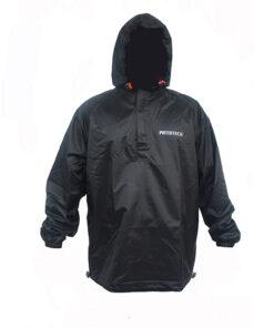 MOTOTECH HURRICANE RAIN OVER JACKET: Black