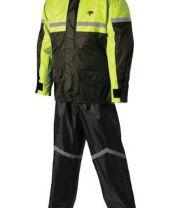 NELSON RIGG RAIN SUIT STORMRIDER: Black / Hi-Viz Yellow