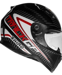 SHIRO SH-881 TRACK GP GLOSS CARBON HELMET: Black